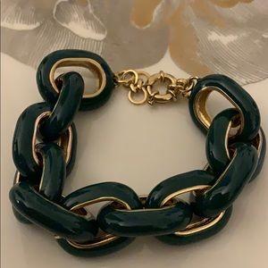 J. Crew teal and gold bracelet